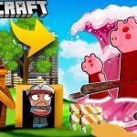 BAZA VS TSUNAMI PIGGY - MINECRAFT TSUNAMI CHALLENGE | Vito VS Bella - Vito Minecraft