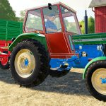 Colorful old Tractor and Soybean harvest | JCB John Deere and and a pickup truck with a tow truck - Bazylland Kids - Tractors & Excavators