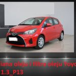 Toyota Yaris III 1.3_P13 wymiana oleju i filtra / oil and filter replacement