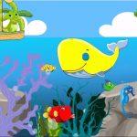 JustBaby uczy kolorów po angielsku, ucz się z wielorybem i krokodylem na łodzi