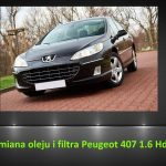 Peugeot 407 1.6 Hdi wymiana oleju i filtra / oil and filter replacement