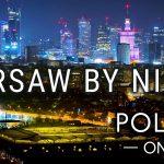 Warsaw By Night 2020 - Warszawa nocą z drona   Poland aerial 4K   POLAND ON AIR by Margas & Łogusz - POLAND ON AIR