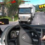 MERCEDES ACTROS 720KM | Euro Truck Simulator 2 | Olsztyn-Olsztyn |Logitech g29 gameplay |