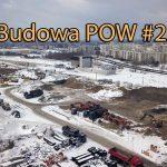 Zima na budowie tunelu trasy S2 w Warszawie
