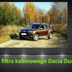 Dacia Duster 1.6 wymiana filtra kabinowego / air filter replacement