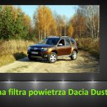 Dacia Duster 1.6 wymiana filtra powietrza / air filter replacement