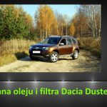 Dacia Duster 1.6 wymiana oleju i filtra / oil and filter replacement