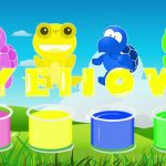 Learn colors in english with funny animals kids story tell funny video