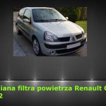 Renault Clio II 1.2 wymiana filtra powietrza / air filter replacement