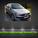 Renault Clio II wymiana filtra kabinowego / air filter replacement