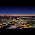 Wiedeń nocą - panorama